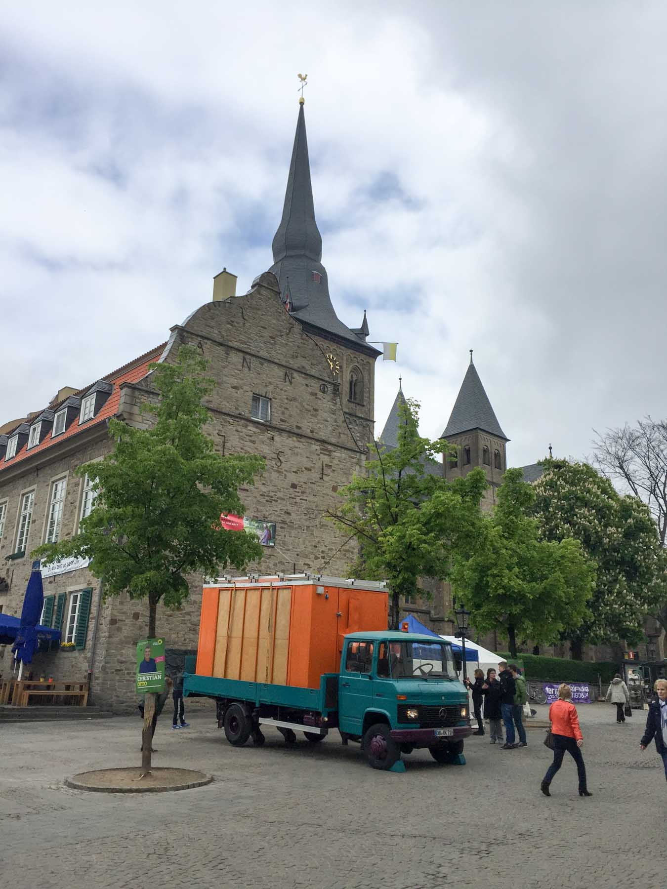 Arrival at the Ratinger Marktplatz