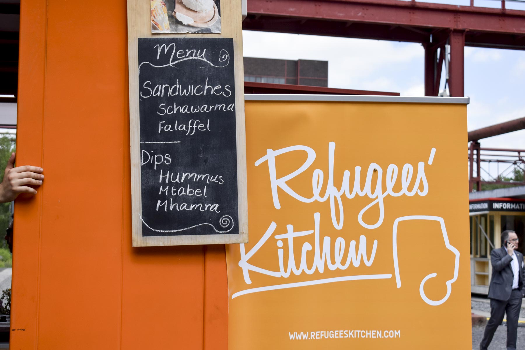 Menü Refugees`Kitchen Zollverein